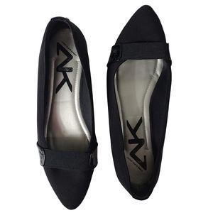 Anne Klein Pointed Toe Black Flats